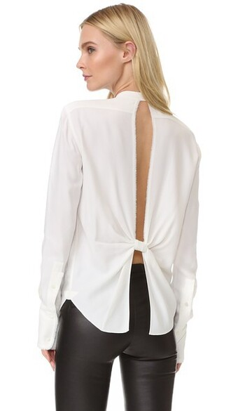 blouse back white top