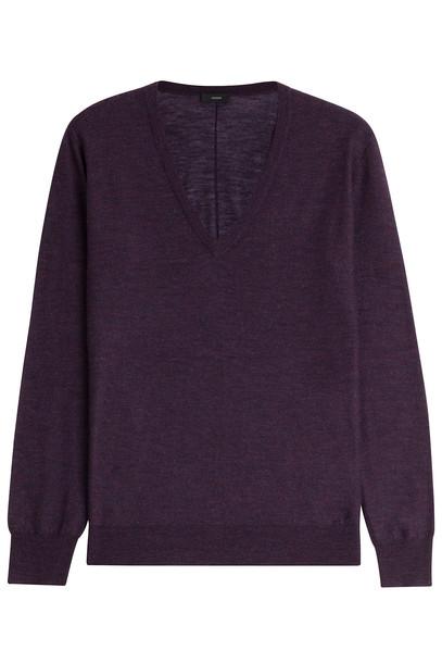 Joseph pullover purple sweater