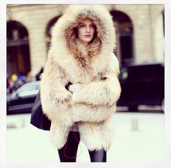 Customizable) Luxury Designer Handmade Faux Fur Floor Length Coat ...