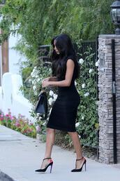 shoes,dress,little black dress,naya rivera