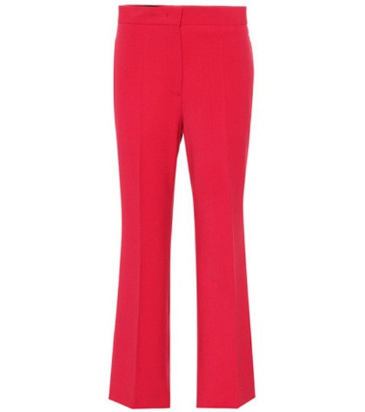 Fendi Wool-blend cropped pants in red