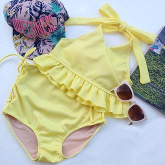 swimwear bikini high waisted bikini vintage retro bikini pin up simsuit beach clothes women clothing high waisted gifts for her