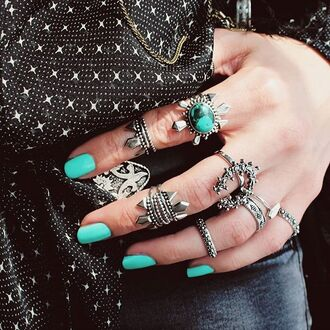 jewels shop dixi sterling silver rings boho midi rings bohemian