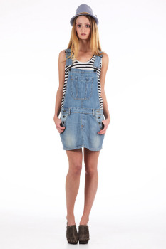 firetrap robe salopette en jean dungaree bleu livraison gratuite avec. Black Bedroom Furniture Sets. Home Design Ideas