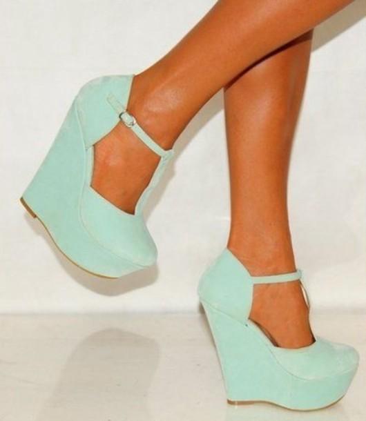 shoes mint wedges