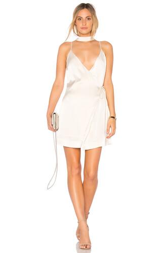 dress slip dress satin cream