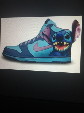 shoes cute high tops blue nike blue shoes purple nike shoes lilo and stitch high top sneakers trainers nike running shoes blue sneakers