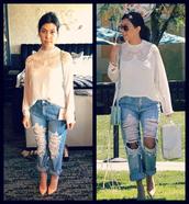 top,jeans,kourtney kardashian