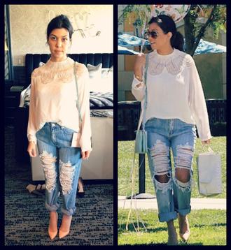 top jeans kourtney kardashian