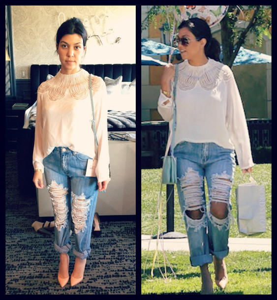 top jeans kourtney kardashian