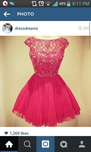 dress pink dress short sleeve lace dress