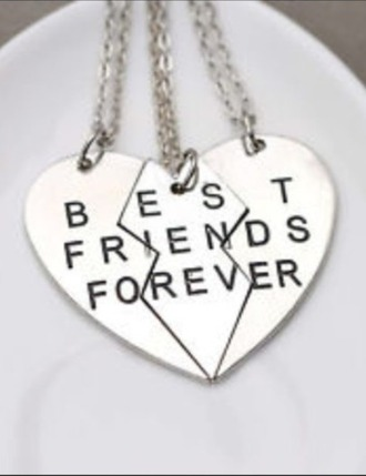 jewels necklace bestfriend necklace bestfriend bff three