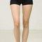 Simple black high waist shorts