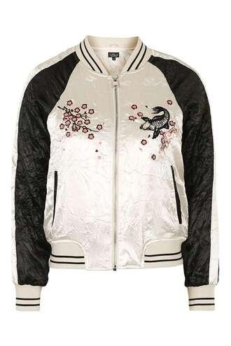 jacket bomber jacket outerwear clothes topshop