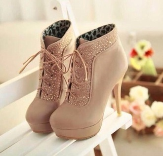leopard print high heels sparkly brown high heels lace-up shoes