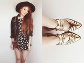 shoes,Choies,heels,gold shoes,metallic shoes