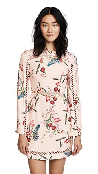 dress mini dress mini long floral blush