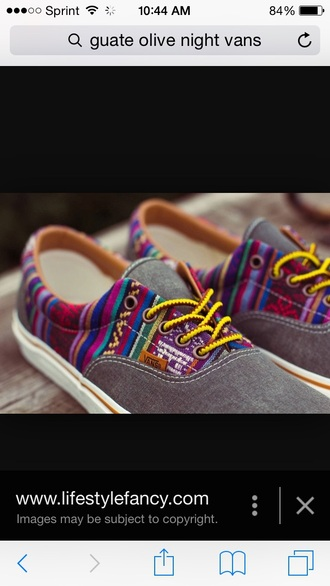 shoes guate vans olive tribal pattern