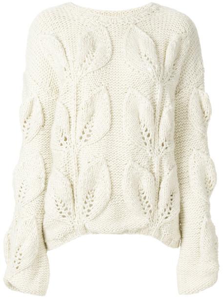 Oneonone jumper women white wool sweater