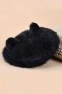 Rhinestone Embellished Cat Ear Bowler - OASAP.com