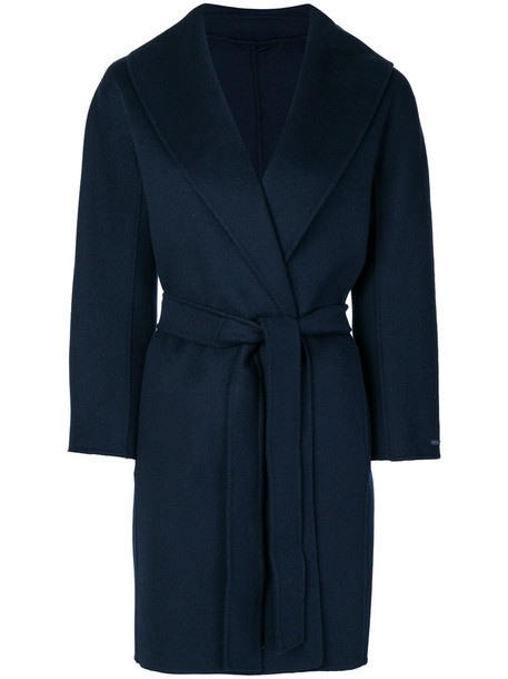 'S Max Mara coat women blue wool