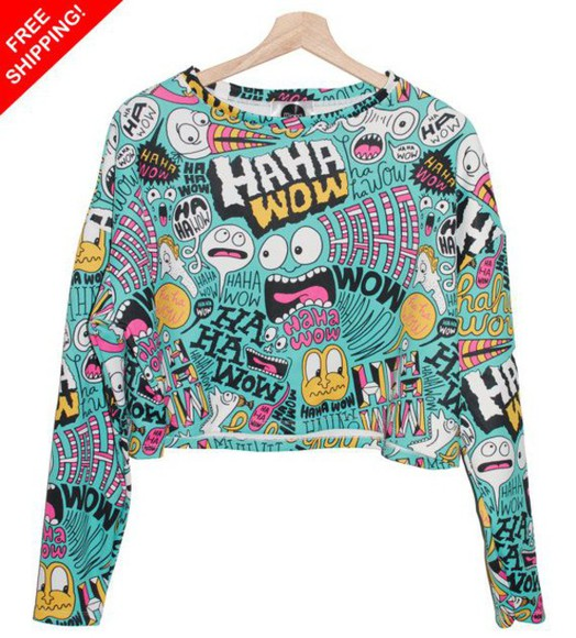 cartoon crop tops quote on it funny style