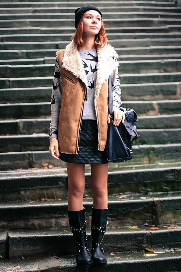 gvozdishe hat sweater skirt shoes