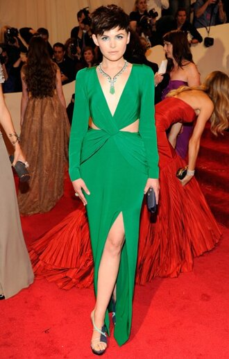 green dress prom dress ginnifer goodwin dress