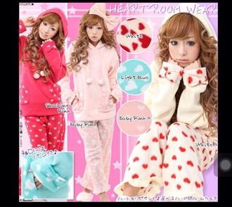 jumpsuit kawaii cute shirt pajamas