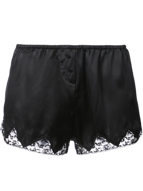 MORGAN LANE shorts women lace black silk