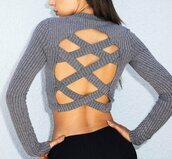 top,bbackles,tight,ribbon,ribbed,knitwear,knitted top,long sleeves,tight top,bodycon,crop tops,long sleeve crop top,backless,backless top,open back,sexy back,jeans top,slim,sexy back top,urban,musthave,streetwear,streetstyle,preppy top,tumblr,tumblr top,fashion,fashion top,fashion fashion is a playground,fashionista,cropped,short,women,casual,casual top,stripes,moraki,blouse,28719,criss cross back,criss cross bottom,fashion toast