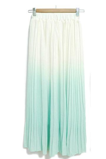 Gradient Four Colors Skirt [FMCC0092]- US$28.99 - PersunMall.com