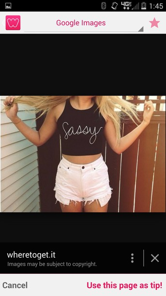 t-shirt crop tops white top sassy letter t-shirts letters white shorts blonde hair blonde hair tank top cute shorts cute crop top shorts