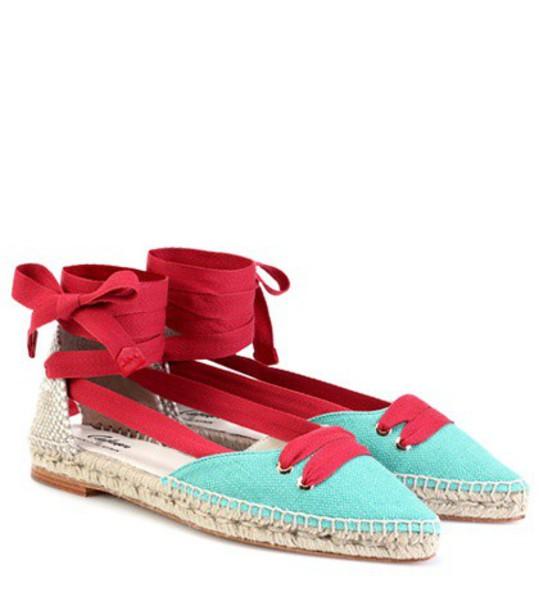 Castañer by Manolo Blahnik espadrilles turquoise shoes