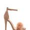 Feathered future velvety platform heels taupe - gojane.com