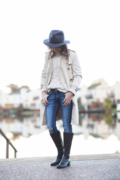 alterations needed blogger coat sweater jeans shoes hat jewels