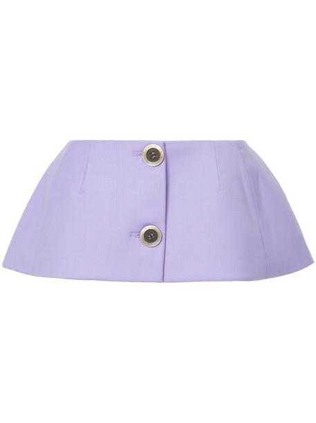 Natasha Zinko skirt women spandex wool purple pink