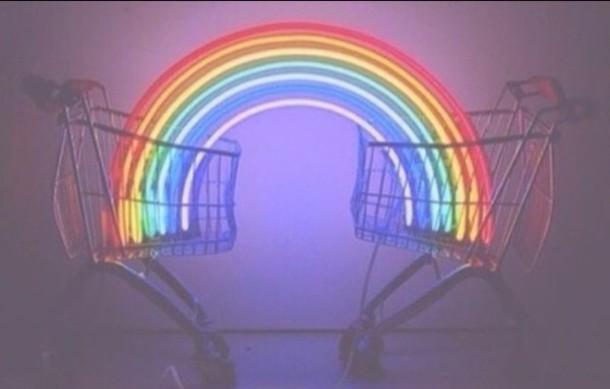 Home Accessory Tumblr Grunge Black Rainbow Wheretoget