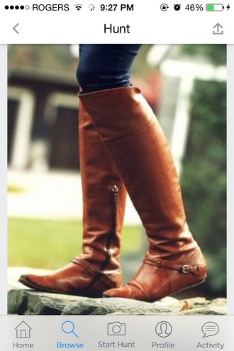 shoes boots riding boot riding boots flat flat sole flat sole boots flat sole riding boots brown leather boots