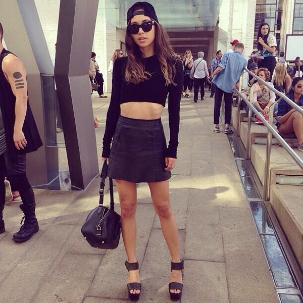 bag skirt sunglasses shoes belt tank top
