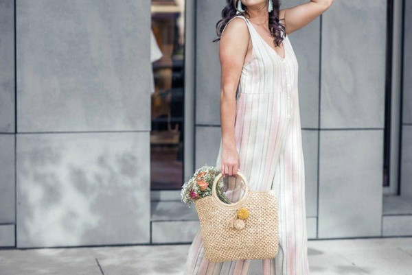 live more beautifully blogger jumpsuit top jewels shoes bag