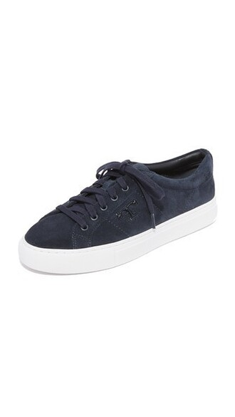 sneakers lace navy shoes