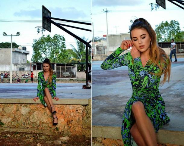madame julietta blogger dress tropical sandals