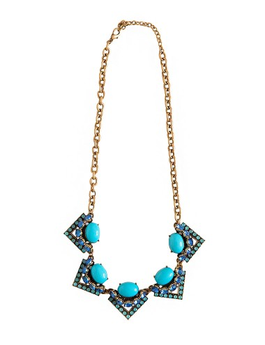 Statement Turquoise Necklace - Chunky Necklace -$14