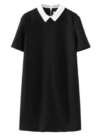 dress black white black dress little black dress litle black dress peter pan collar collared shirts collared dress