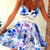 Lace Splicing Waist Floral Slip Dress|Disheefashion