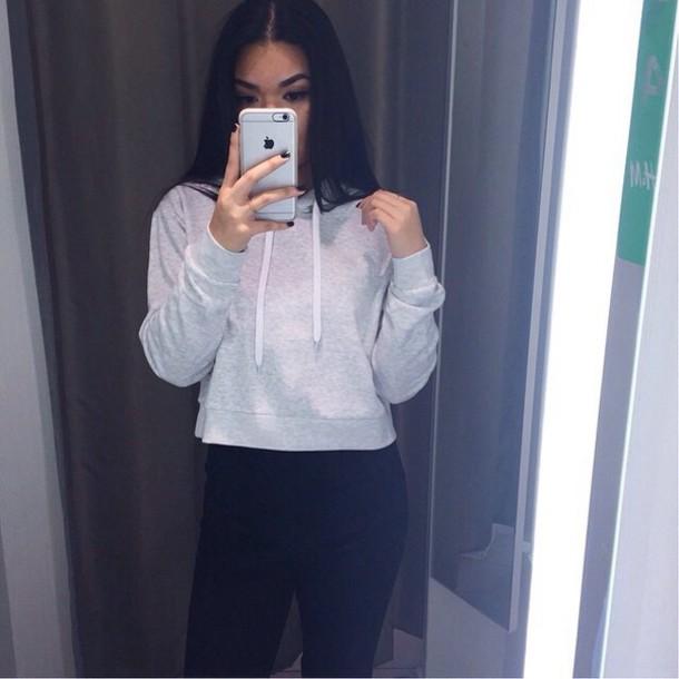 sweater grey hoodie