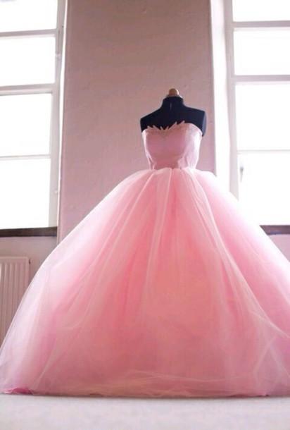 dress prom dress prom gown ball gown dress ball gown dress pink dress princess dress pink gown puffy dress