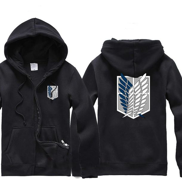 Sweater: hoodie, sweatshirt, wings, zip-up, black - Wheretoget