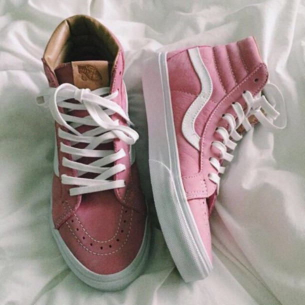 Shoes Vans Sneakers Style Pink Beautiful Cute